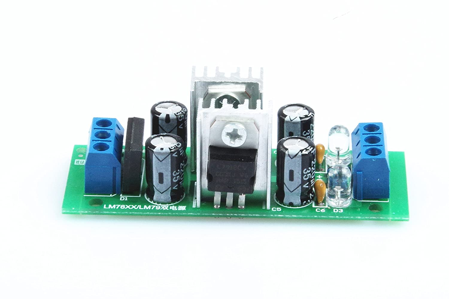 Knacro Lm7812 Lm7912 Dual Voltage Regulator Three Power Rectifier Filter Modulein Integrated Circuits Terminal Supply Module 12v With Bridge