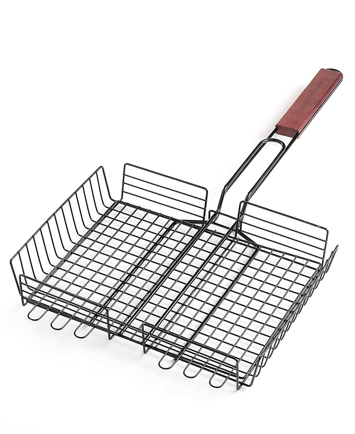 Charcoal Companion CC3013 Non-Stick Rectangle Grilling Basket