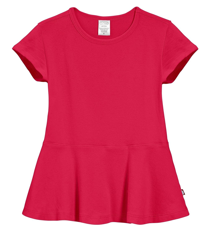 76d904fe5 Top4  City Threads Big Girls  Cotton Short Sleeve Peplum Blouse Shirt  School