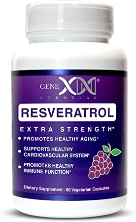 Genex Resveratrol 1500mg Per Serving- Max Strength - Antioxidant Supplement Extract   Trans-Resveratrol Works Well with NMN Nicotinamide Mononucleotide Made in a GMP Facility 30-Day Supply