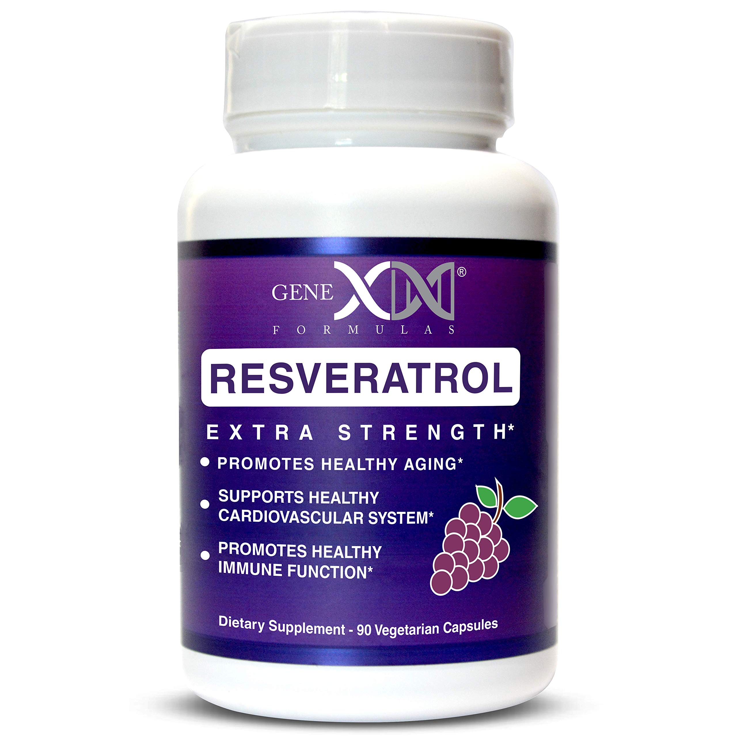 Genex Resveratrol 1500mg Per Serving- Max Strength - Antioxidant Supplement Extract | Trans-Resveratrol Works Well with NMN Nicotinamide Mononucleotide Made in a GMP Facility 30-Day Supply