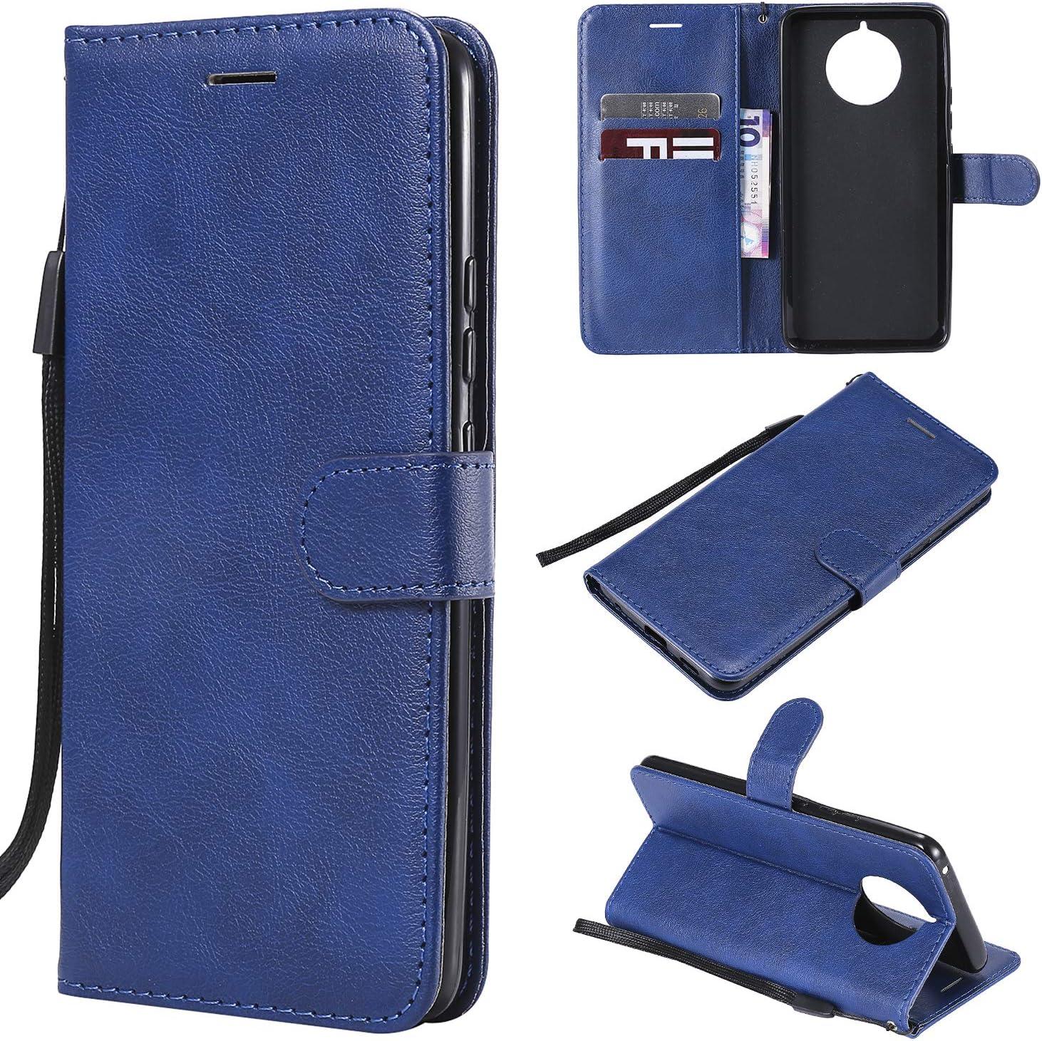 YYhin Cubierta para Funda Nokia 9 Pure View, Caja de Cuero del teléfono de la PU, Cubierta de la Cartera, Cubierta del Soporte del Caso del tirón(CS05-Azul): Amazon.es: Electrónica