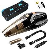 MVPOWER Auto Aspirador Manual Portátil para Coche en Seco y Húmedo Limpiador de Mano para Automóviles 12V 108W Color Negro