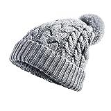 FREETOO ニット帽子 ニットキャップ ケーブルニット 折り返し ポンポン付き 軽量 シンプル スキー スノボ アウトドア 普段使いに メンズ レディース 全3色