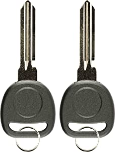 KeylessOption Replacement Uncut Transponder Chip Key Blank Ignition for Circle Plus (Pack of 2)