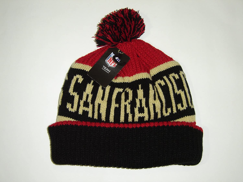 47 Brand Calgary Cuff Beanie Hat with POM POM - NFL Cuffed Winter Knit  Toque Cap.   8bb8f1f356a0