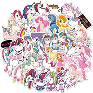 Cute Unicorn Stickers 100PCS Vinyl Stickers for Girl Teens Adults for Luggage Case Hydra Flash Water Bottle