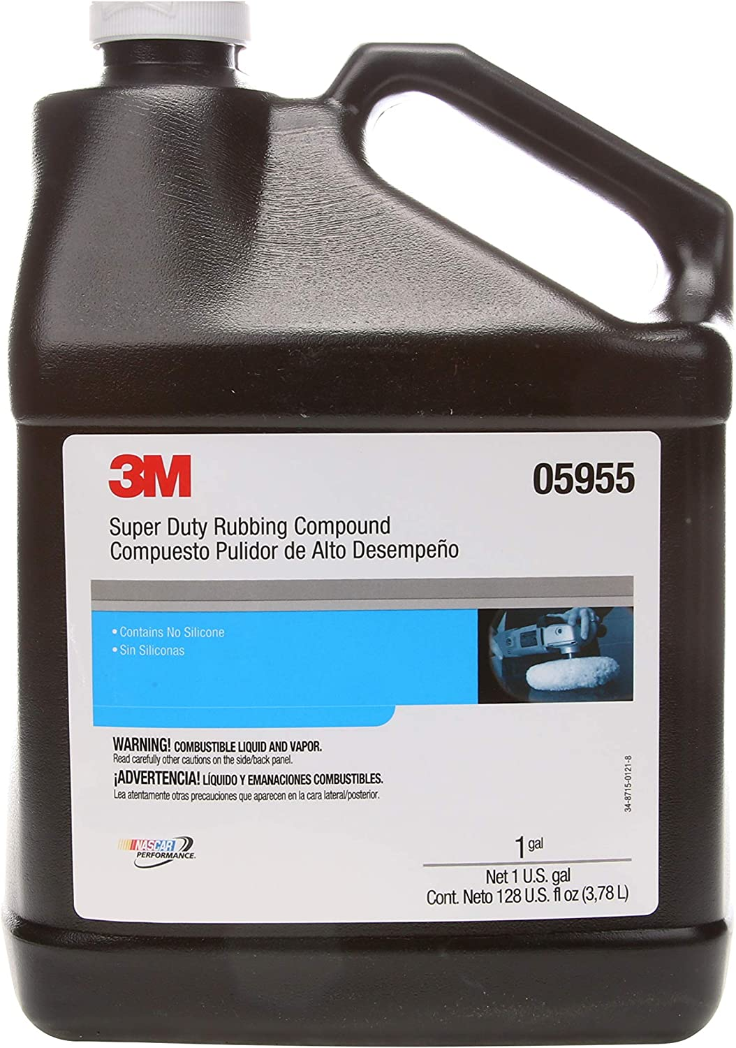 3M Super Duty Rubbing Compound, 05955, 1 gal (10.6 lb)