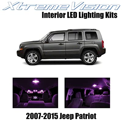 Xtremevision Interior LED for Jeep Patriot 2007-2015 (6 Pieces) Pink Interior LED Kit + Installation Tool: Automotive