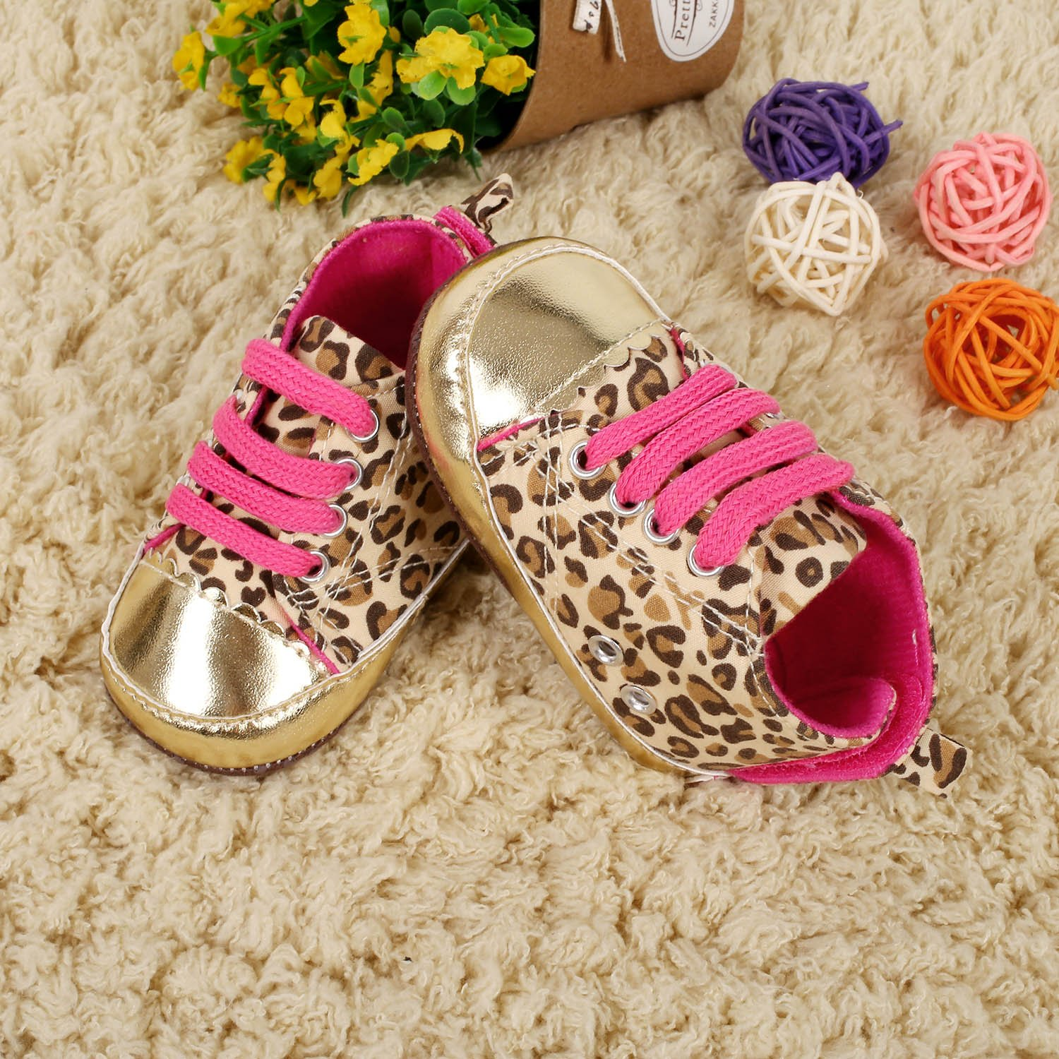 3-6M Cute Baby Toddler Infant Leopard Crib Shoes Soft Sole 3-18 Months 11cm