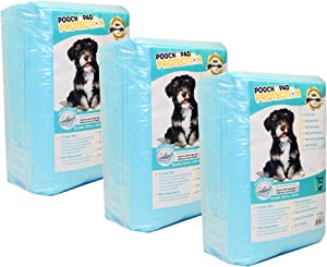 Pooch Pad Protection Training Dog Pads. Thick & Soft, Powerful Absorbent Puppy Pads. The New Deluxe Tech for High-Class Consumers
