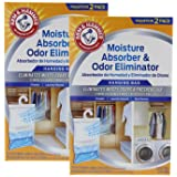 Arm & Hammer Moisture Absorber & Odor Eliminator 16oz Hanging Bag, 2 Pack (4 Bags Total) – Eliminates Musty Odors & Freshens Air for Closets, Laundry rooms, Mud Rooms