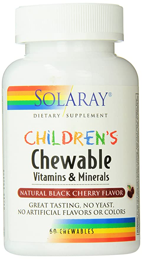 Childrens Chewable 60 Comprimidos Masticables Solaray