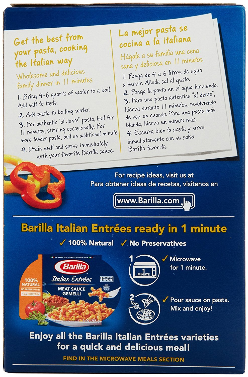 Amazon.com : Barilla Pasta Penne, 1.0 LB (Pack of 2) : Grocery & Gourmet Food