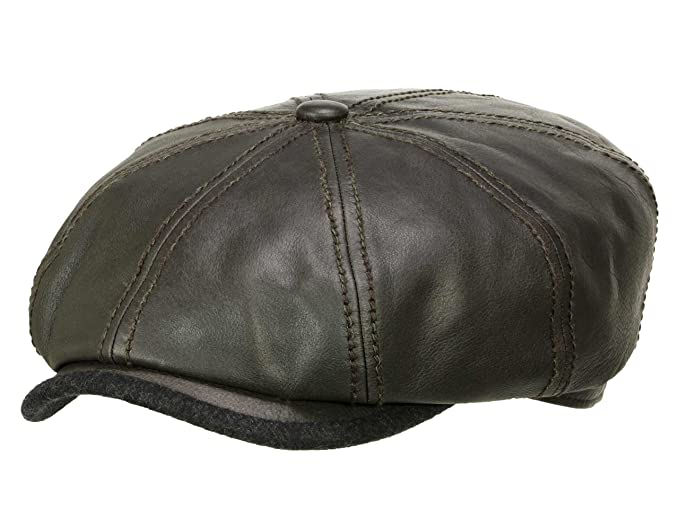 933f021ccf4 Stetson Men s Newsboy Cap Hatteras brown M 56-57  Amazon.co.uk  Clothing