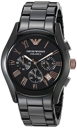 fcc3d7c4ad0d Image Unavailable. Image not available for. Colour  Emporio Armani Valente  Analog Black Dial Men s Watch - AR1410