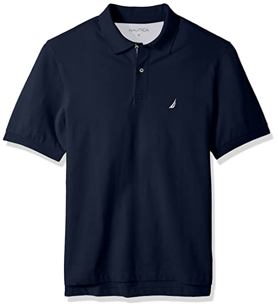 57e38d94 Nautica Mens Big-Tall Short Sleeve Solid Deck Polo Shirt: Amazon.ca ...