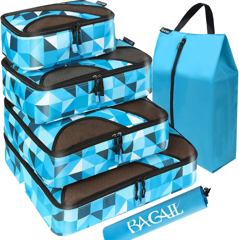 Bagail 4 Packw/ürfel Reisegep/äck-Organizer mit W/äschesack