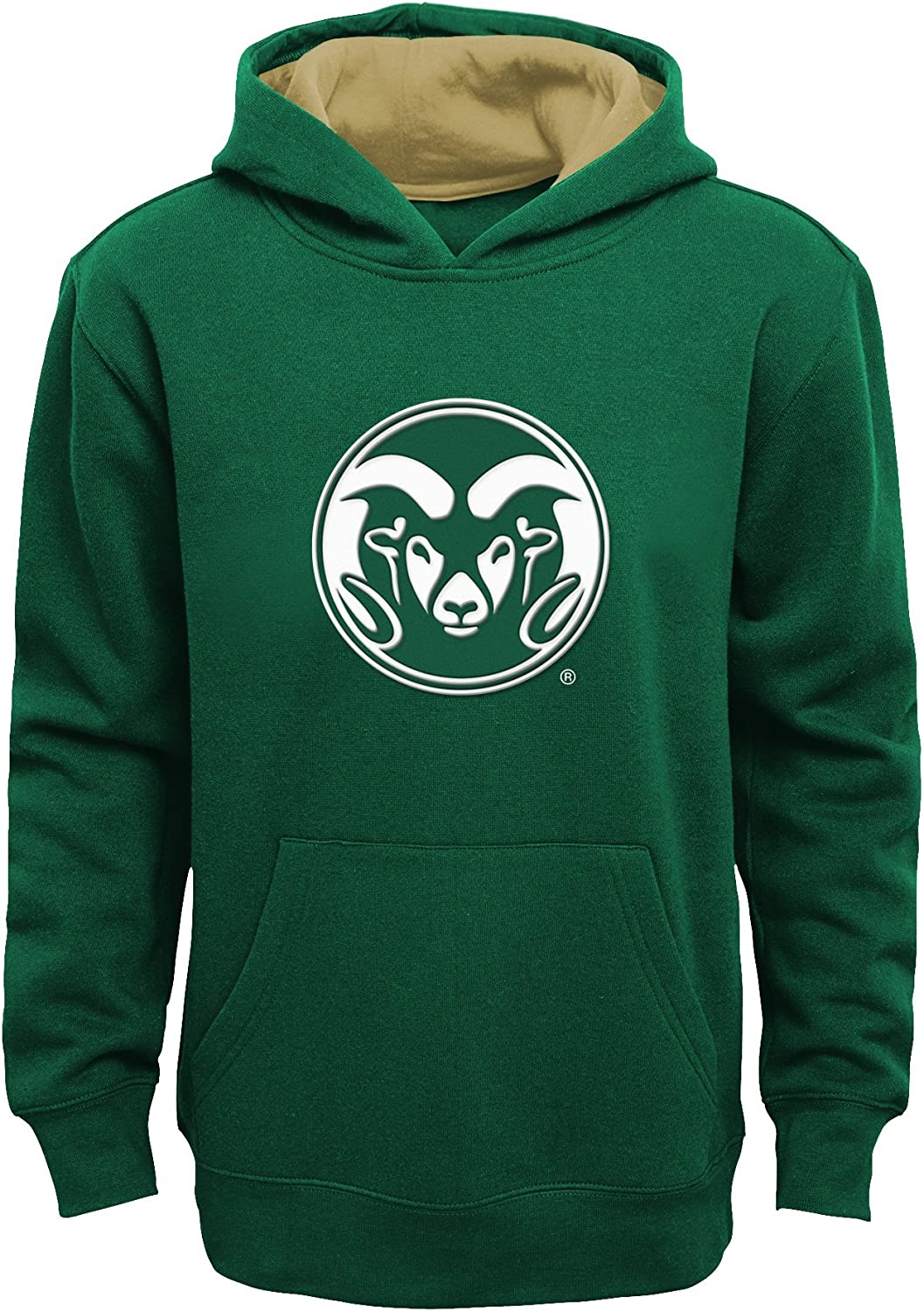 Youth Medium 10-12 NCAA by Outerstuff NCAA Colorado State Rams Kids /& Youth Boys Prime Fleece Pullover Hoodie Dark Green