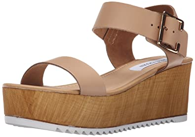 ecd5984ecfa Steve Madden Women s NYLEE Platform Sandal Natural Leather 5.5 M US