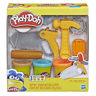 Play-Doh Toolin' Around Toy Tools Set for Kids with 3 Non-Toxic Colors: Toys & Games