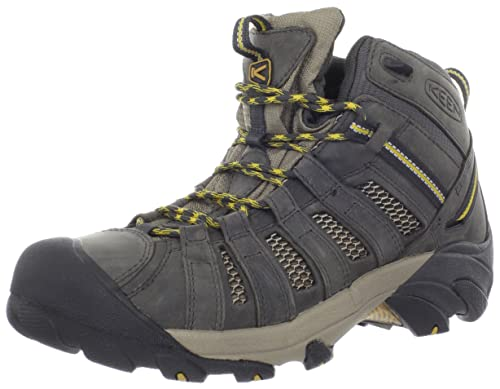 KEEN Men's Voyageur Mid Hiking Boot,Raven/Tawny Olive,11 M US