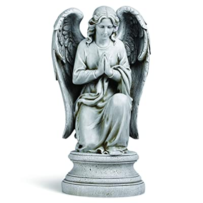 Joseph's Studio by Roman - Praying Angel Statue, 17.75H, Garden Collection, Resin and Stone, Decorative, Religious Gift, Home Outdoor and Indoor Decor, Durable, Long Lasting : Outdoor Statues : Garden & Outdoor