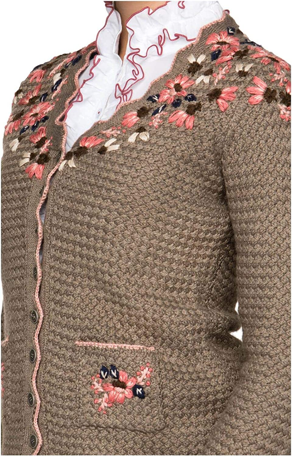 Stockerpoint Traditional Cardigan FLORICA Brown