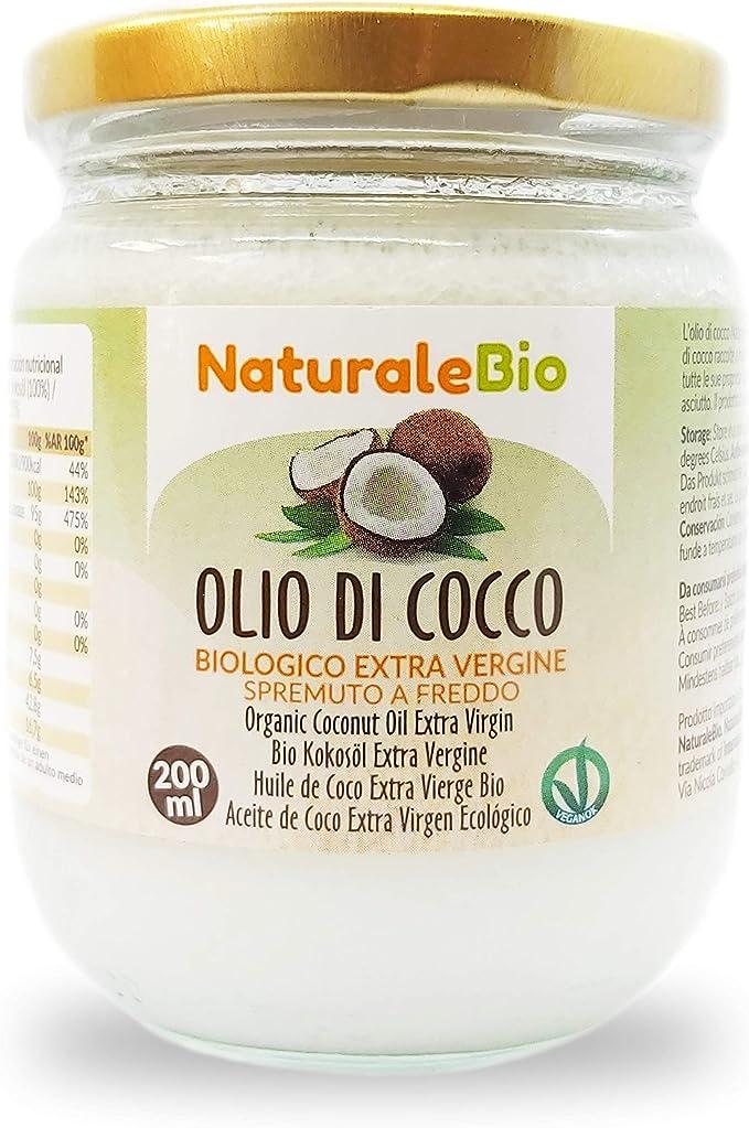 Aceite de Coco Ecológico Extra Virgen 200 ml. Crudo y prensado en ...