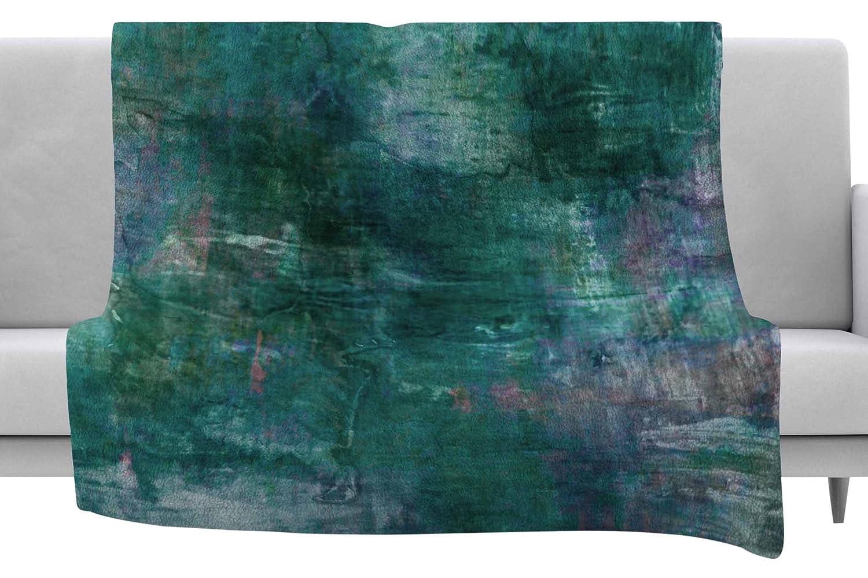 Kess InHouse EBI Emporium Planet Teal Blue Painting Throw 60 x 40 Fleece Blankets