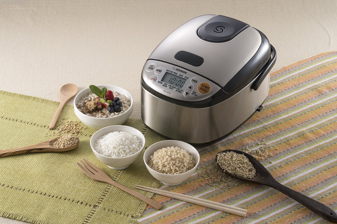 $149.99 Zojirushi NS-LGC05XB Micom Rice Cooker & Warmer, Stainless Black