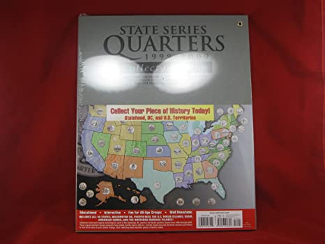 Amazoncom HE Harris US State Quarter Collectors Map Toys Games - Us State Quarter Map