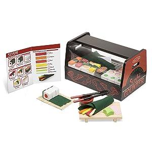 Melissa & DougRoll, Wrap & Slice Sushi Counter Toy