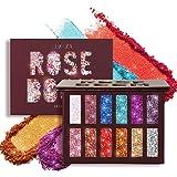 LUXAZA Glitter Eyeshadow Palette Shimmer High Pigmented Eyeshadow Powder 12 Colors Professional Makeup Long Lasting Waterproo