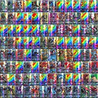 110-delige Pokemon-kaartenset, Cartoon Game Card GX-ruilkaarten voor kinderen met 95 GX Pokemon-kaarten en 5 Mega…