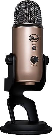 Blue Microphones Yeti Usb Mikrofon Für Aufnahme Und Streaming Auf Pc Und Mac Verstellbares Stativ Plug Und Play Aztec Copper Musikinstrumente