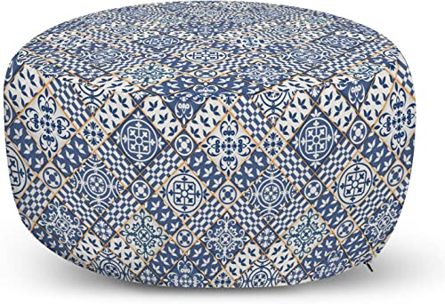 Ambesonne Moroccan Ottoman Pouf