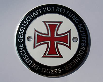 Amazon.com Red Iron Cross , Enamel Car Badge , Made in