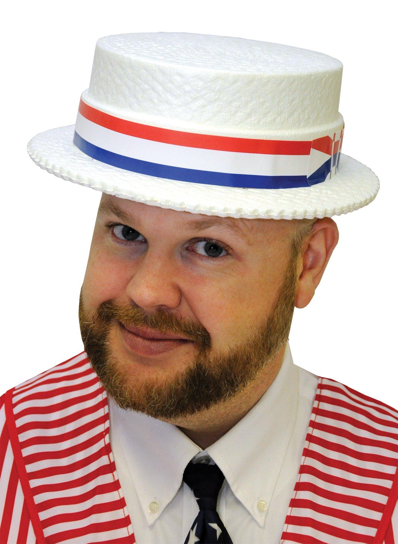 Skimmer Styrofoam Hat - 24 Hats in a Box by WonderCostumes (Image #3)