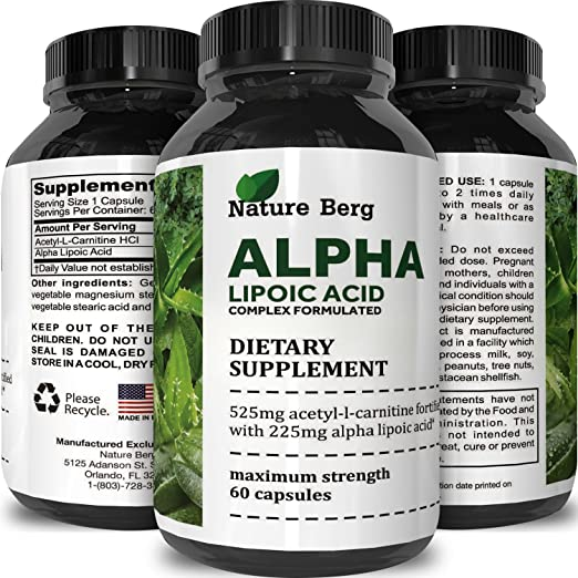 Potent Alpha Lipoic Acid – Weight Loss Pills – Powerful Antioxidant – Lose Belly Fat – Natural Supplement For Building Muscle – Boosts Amino Acids + Creatine Uptake In Muscles
