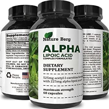 Potent Alpha Lipoic Acid Weight Loss Pills Powerful Antioxidant Amino Acids Lose Belly Fat Natural Supplement