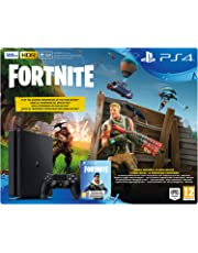 Sony PlayStation 4 + Fortnite Voucher Negro 500 GB Wifi - Videoconsolas (PlayStation 4, Negro, 8192 MB, GDDR5, AMD Jaguar, AMD Radeon)