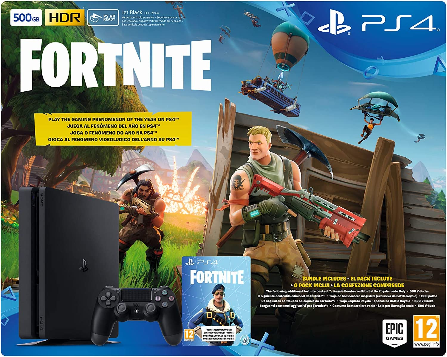Sony PlayStation 4 + Fortnite Voucher Negro 500 GB Wifi ...