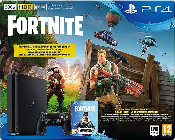 Sony PlayStation 4 + Fortnite Voucher Negro 500 GB Wifi ...