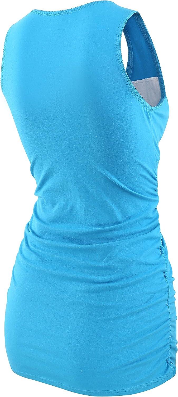 ZUMIY Top maternit/à e pr/émaman Cotone V Neck Donna Increspato Camicia di maternit/à Vita//Gravidanza T-Shirt
