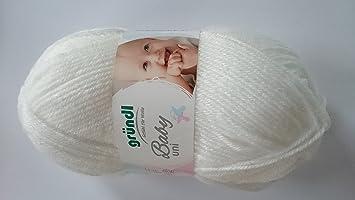 Babywolle Gründl Baby Uni Fb 01 Weiß Weiche Pflegeleichte Wolle