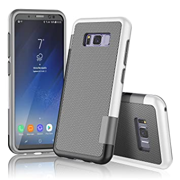 XY-shell Funda Samsung S8, Carcasa Silicona Gel Galaxy S8 Funda [TPU+PC [Anti-patín][Serie híbrida] Samsung S8 Case S8 Funda Ultra-Delgado Compatible ...