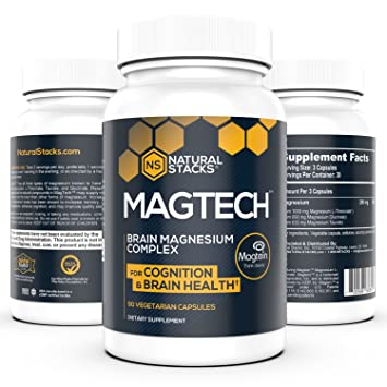 Natural Stacks: MagTech - Magnesium Complex - 30 Day Supply - Promote Brain  Health -