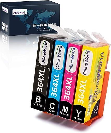 OfficeWorld Cartuchos de tinta para HP 364 364XL, HP Photosmart ...