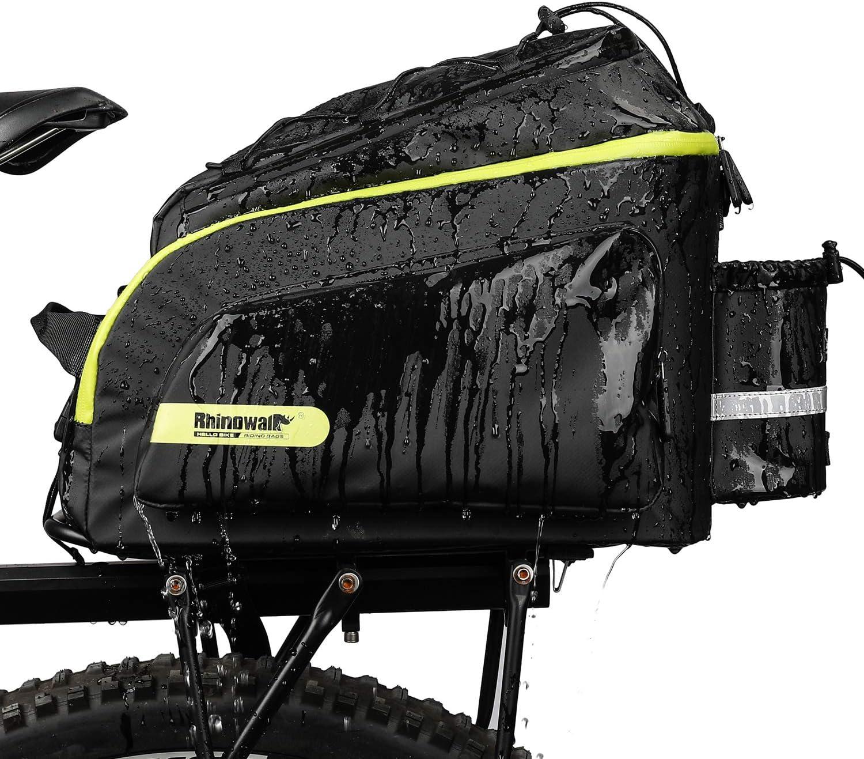 Rhinowalk Bike Bag Bike Trunk Bag Bike Pannier Bag 17L,(for Bicycle Cargo Rack Saddle Bag Shoulder Bag Laptop Pannier Rack Bicycle Bag Professional Cycling Accessories)